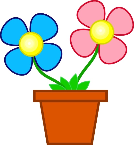 552x595 Clipart Vase Of Flowers
