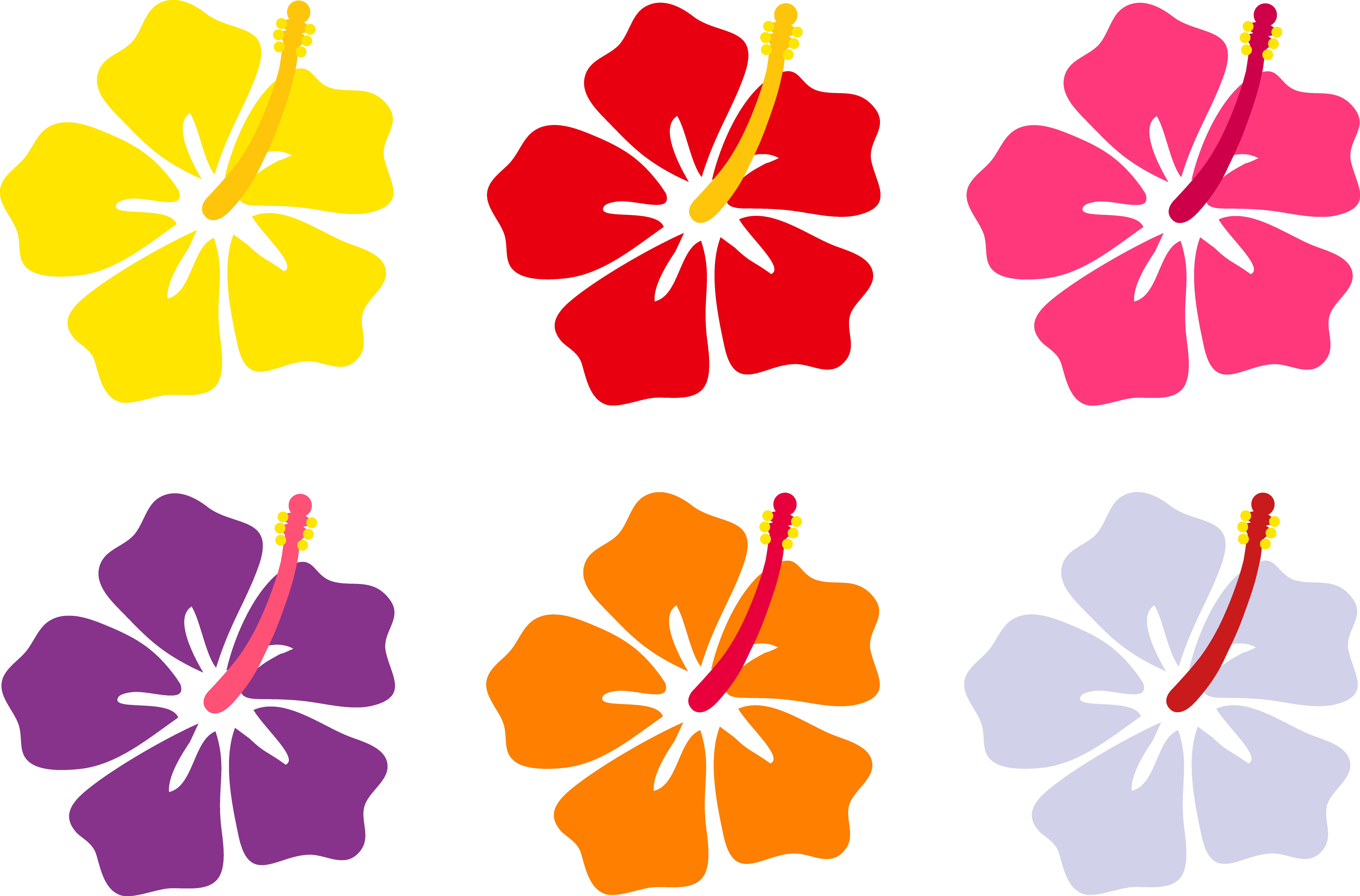 8230x5425 Free Clipart Of Hawaiian Flowers