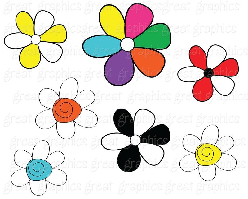 800x640 Printable Flower Clip Art