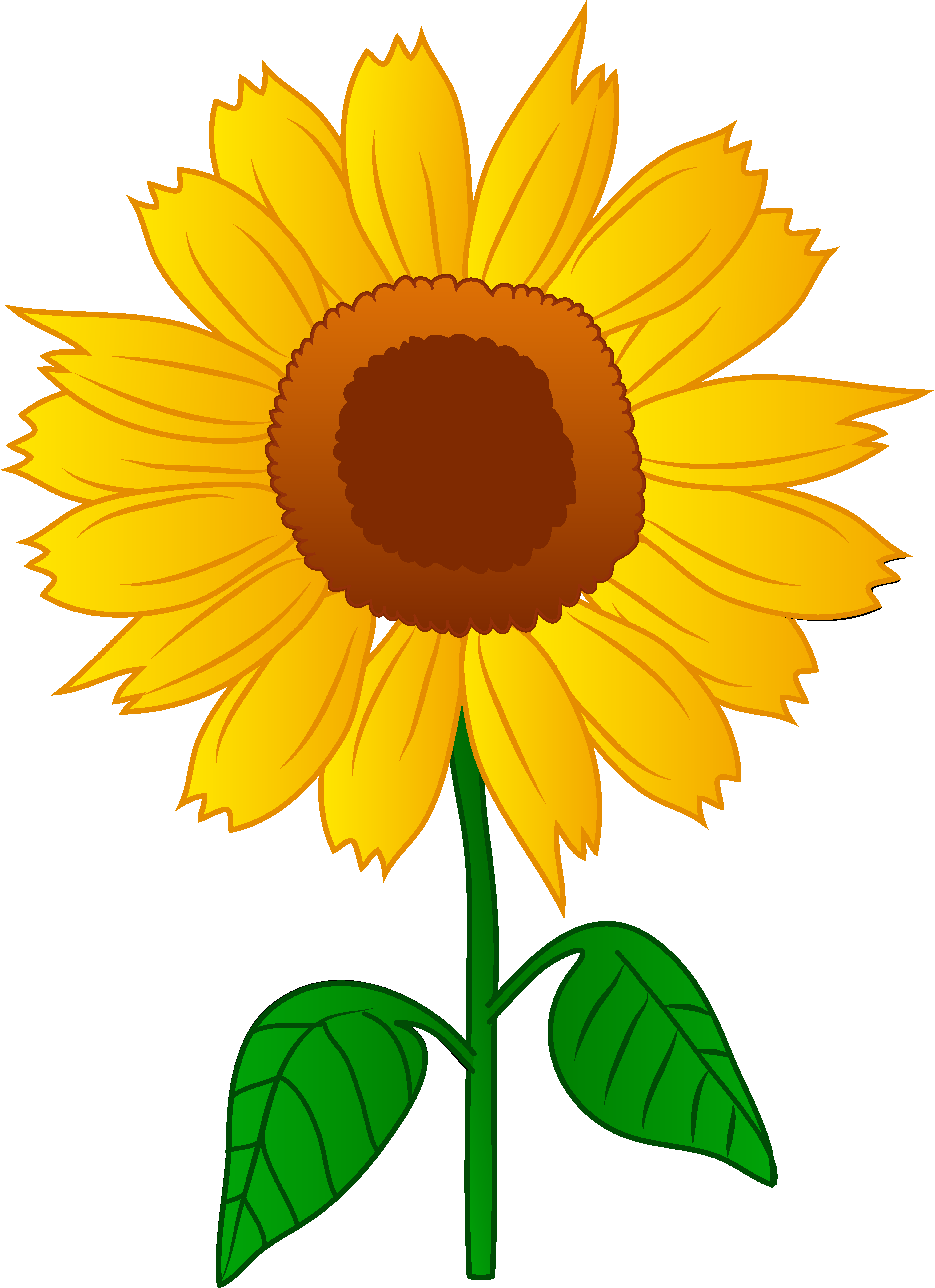 4909x6763 Sunflower Clip Art Free Printable Clipart