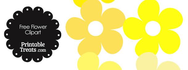 610x229 Yellow Flower Clipart Cute Flower