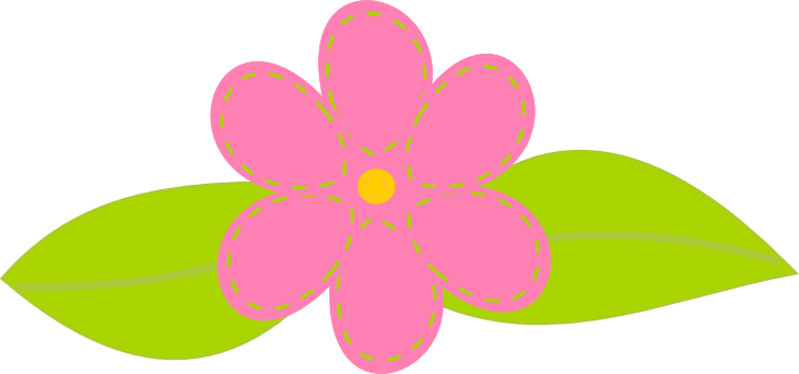 731x342 Flower Clipart Printable