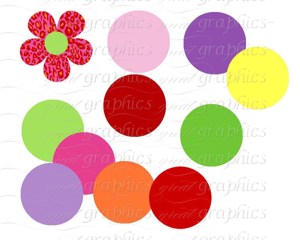 1000x800 Animal Print Digital Clip Art Flower Clipart Printable