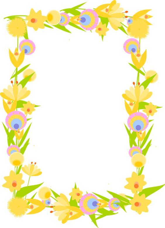 564x780 Printable Flower Clipart With Transparent Background