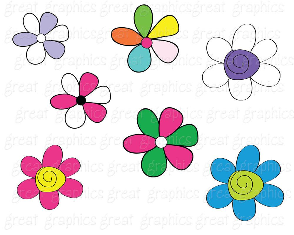 1000x800 Clip Art Flower, Digital Flower Clipart, Flower Digital Clip Art