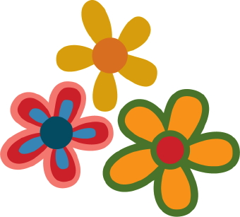 340x307 Clip Art For Pedals On Flowers Clip Art Of Colorful Flowers