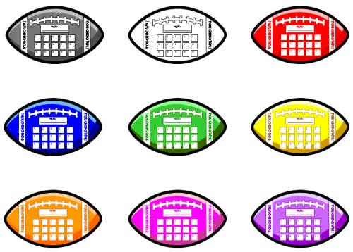 500x358 Football Sticker Charts Fun Sticker Chart Templates Shaped Like