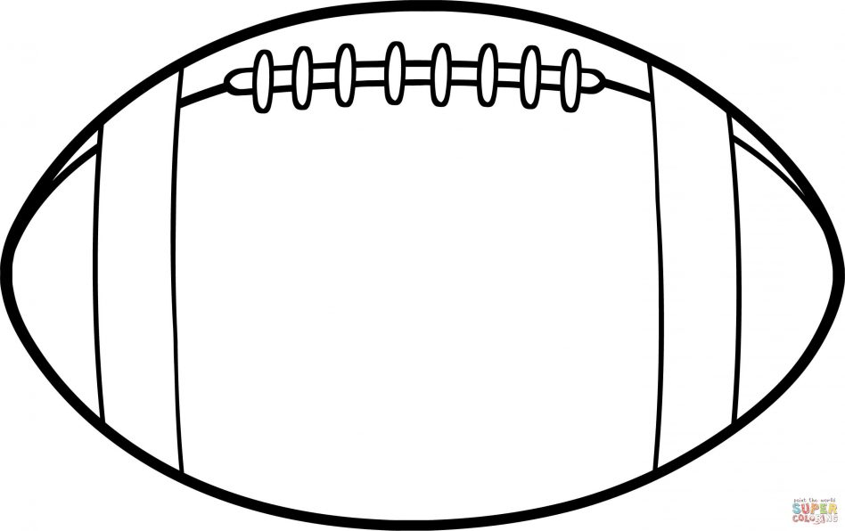 948x596 American Football Ball Coloring Page Printable Pages Click