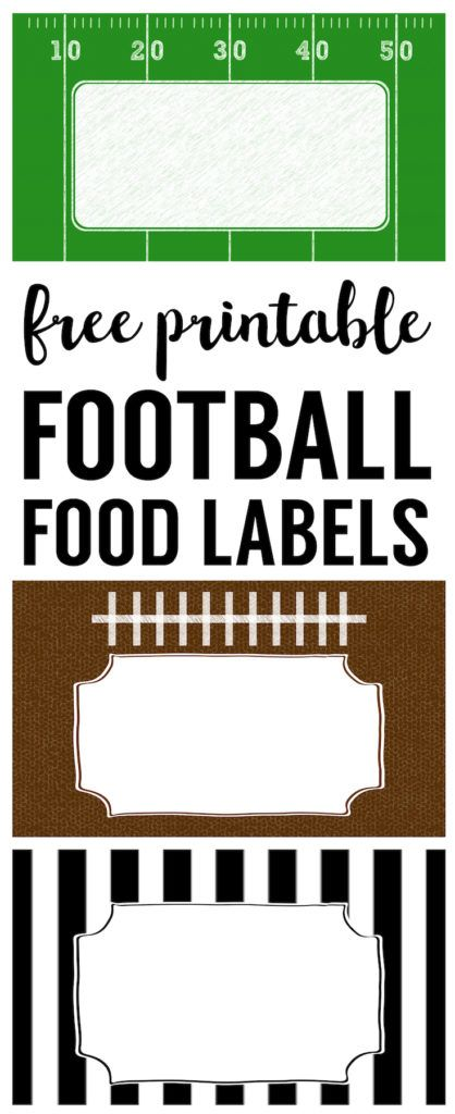 418x1024 Football Food Labels {Free Printable Football Party Decorations