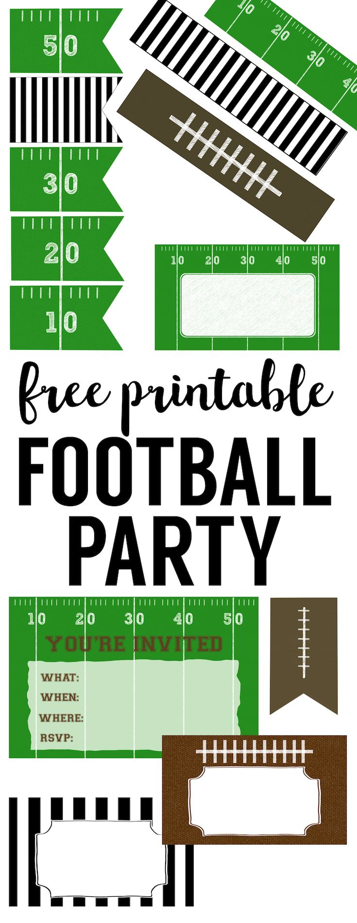 735x1900 Free Printable Football Decorations {Football Party Football