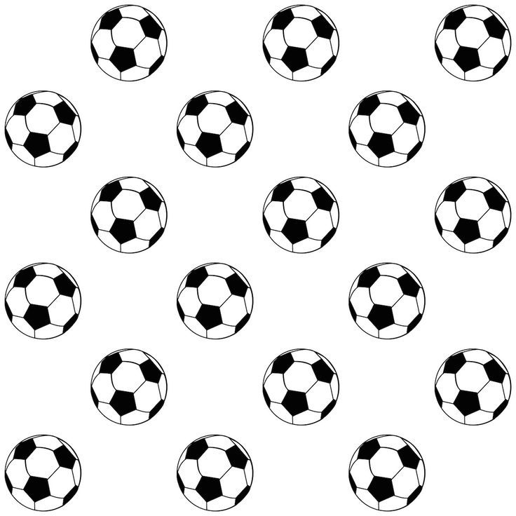 736x736 Free Printable Soccer Ball Pattern Silhouette