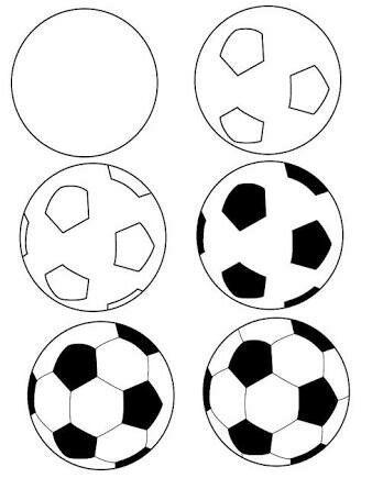 338x435 Hw To Draw A Football Printables Journal