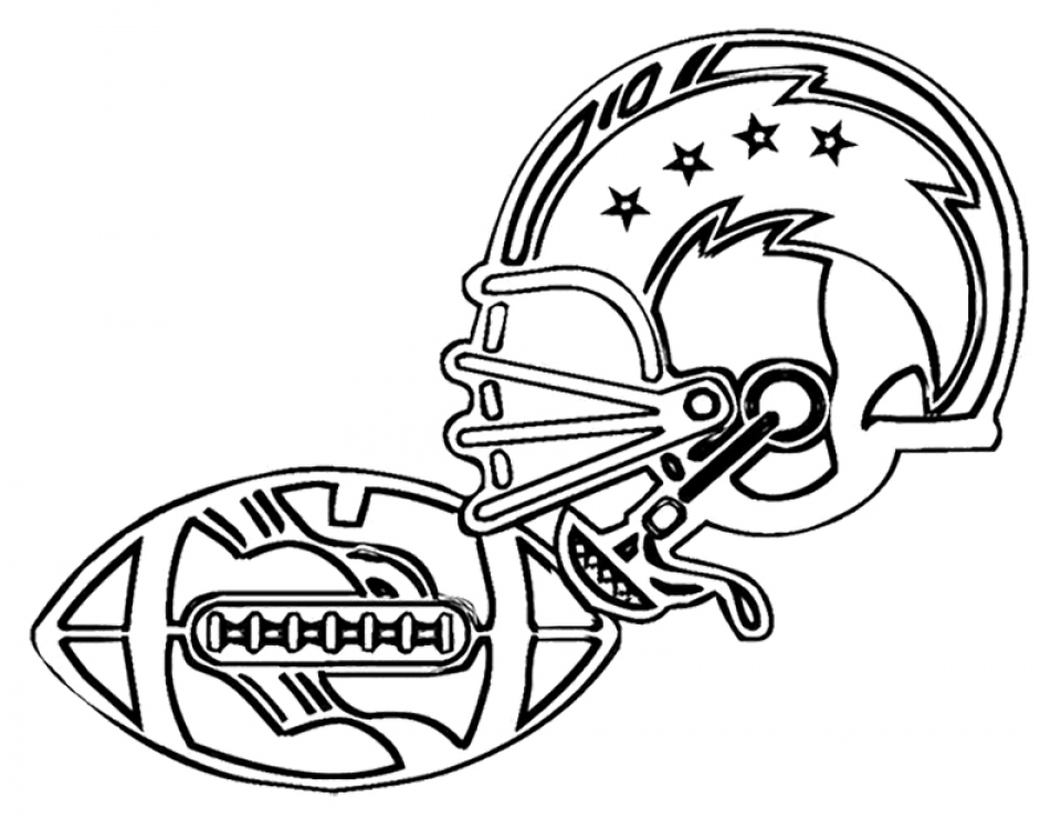 960x741 Free Coloring Page Football Coloring Pages Printable For Blank