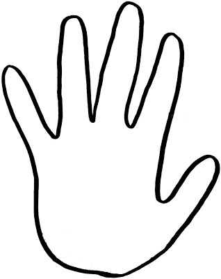 318x400 Handprint Outline Free Download Clip Art On