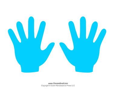 384x297 Blank Hand Template Printables Handprint Templates