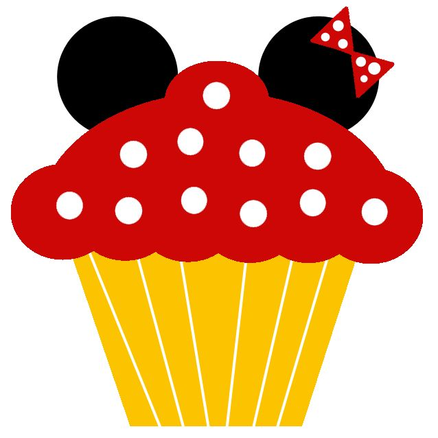 638x638 Mickey Mouse Clipart Cupcake