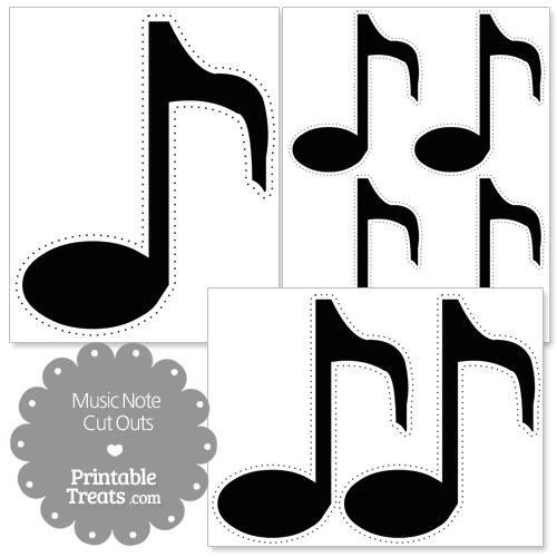 picture about Music Note Stencils Printable known as Printable Audio Notes No cost obtain simplest Printable Tunes