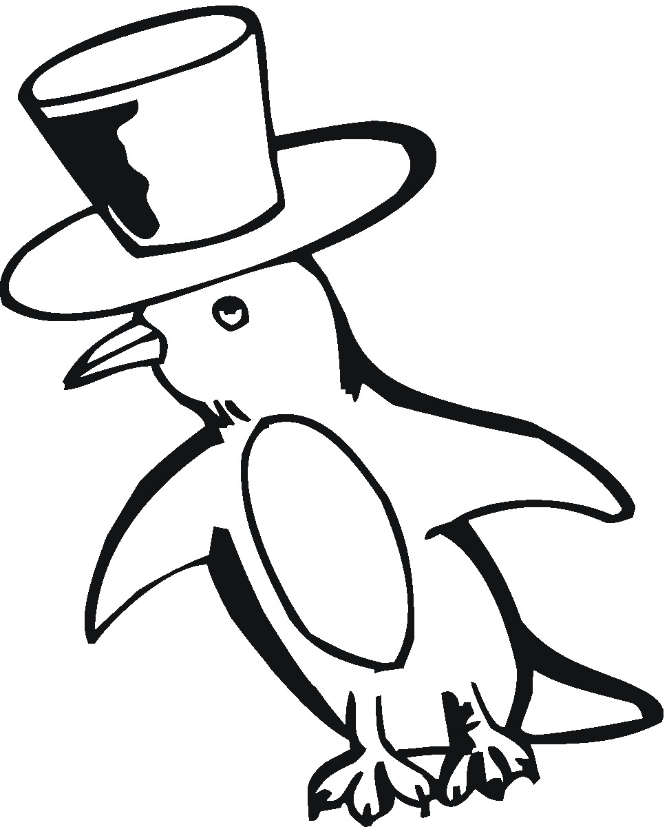 972x1200 New Coloring Pages Penguins 93