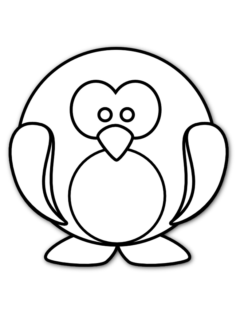 768x1024 Printable Penguin Coloring Pages Printable Penguin Coloring Pages
