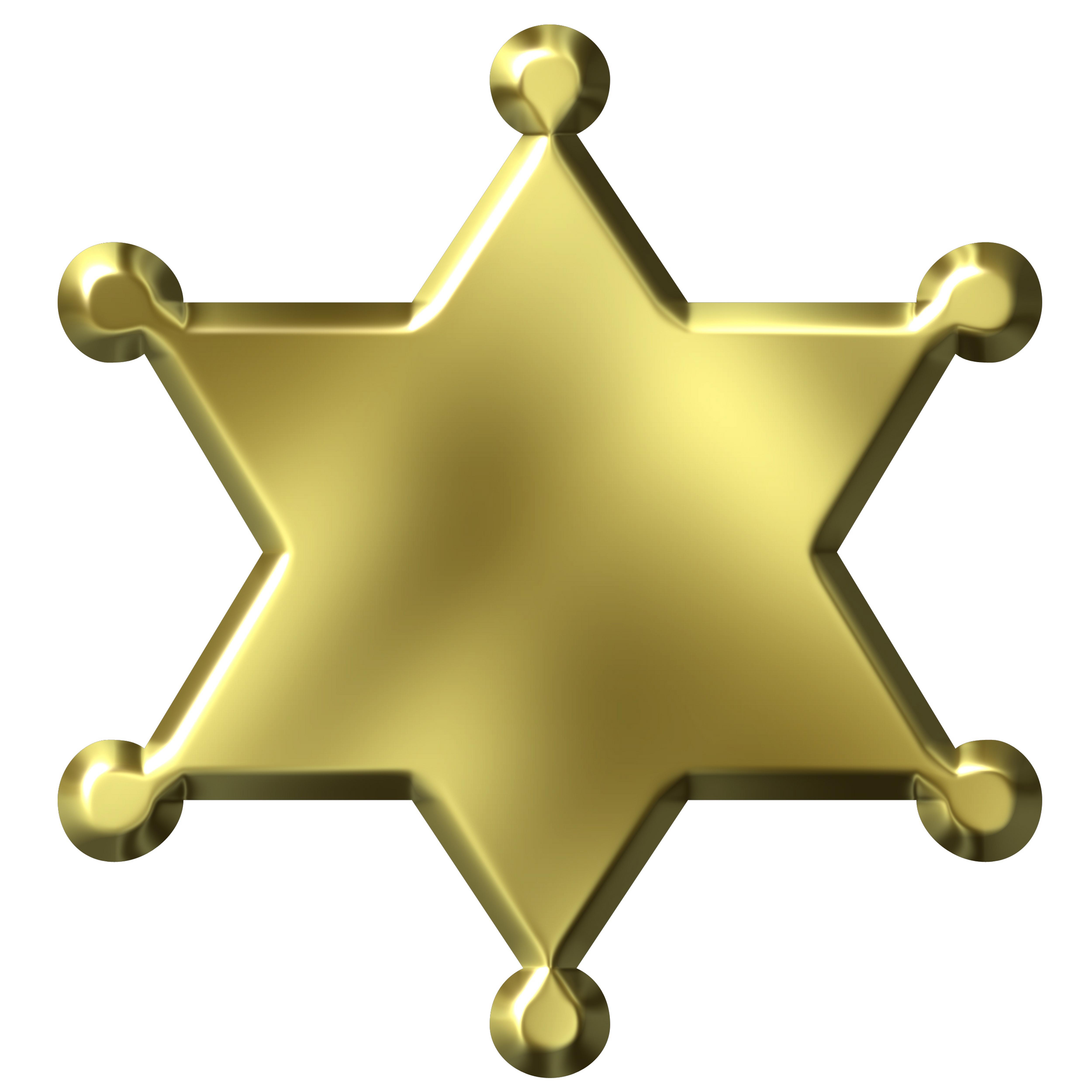 5000x5000 Police Badge Star Clip Art