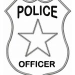150x150 Police Hat With Logo Badge Coloring Pages