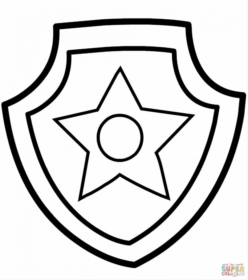 805x910 Coloring Pages Boys Police Coloring Page Badge Printable Pages