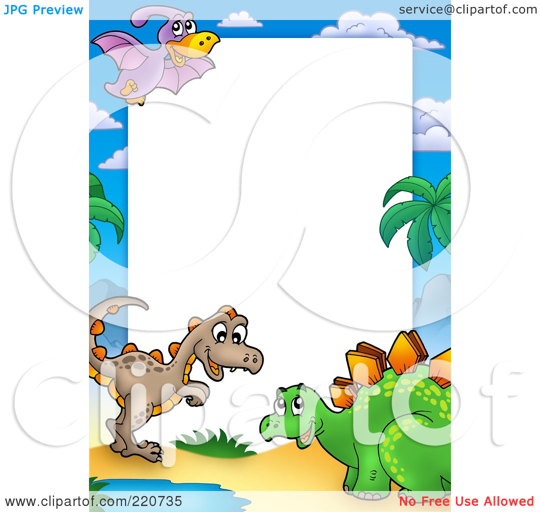 1080x1024 Dinosaur Border Clipart