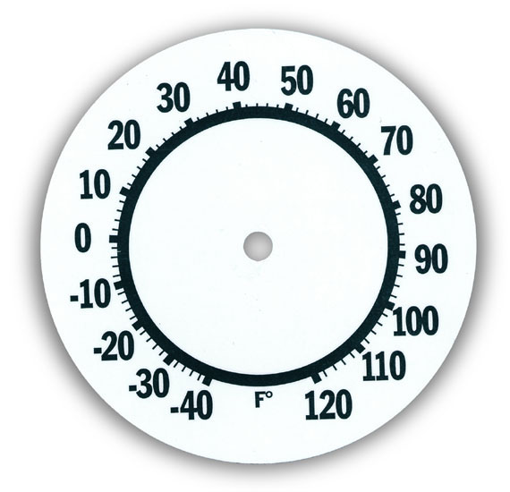 570x550 Dials For Clocks, Thermometers And Tide Movements