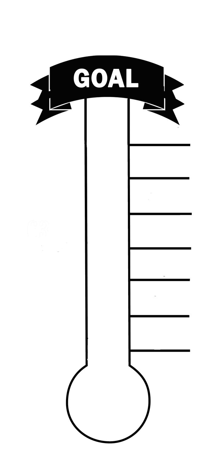 photograph about Printable Thermometer Goal Chart referred to as Printable Thermometer Cost-free down load excellent Printable