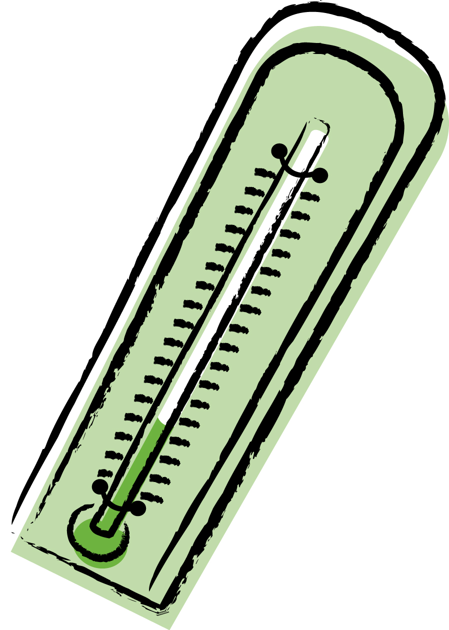 898x1260 School Thermometer Clipart