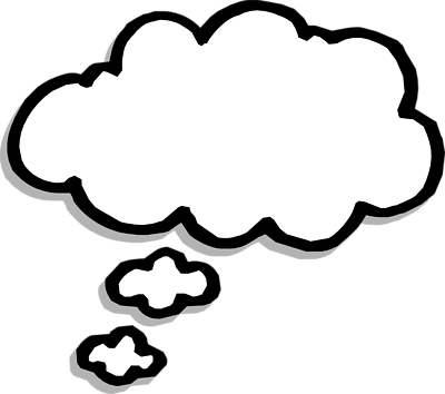 400x354 Clipart Thought Bubble