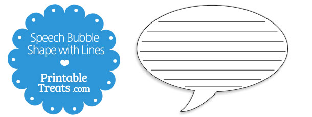 610x229 Printable Speech Bubble Shape With Lines Printable