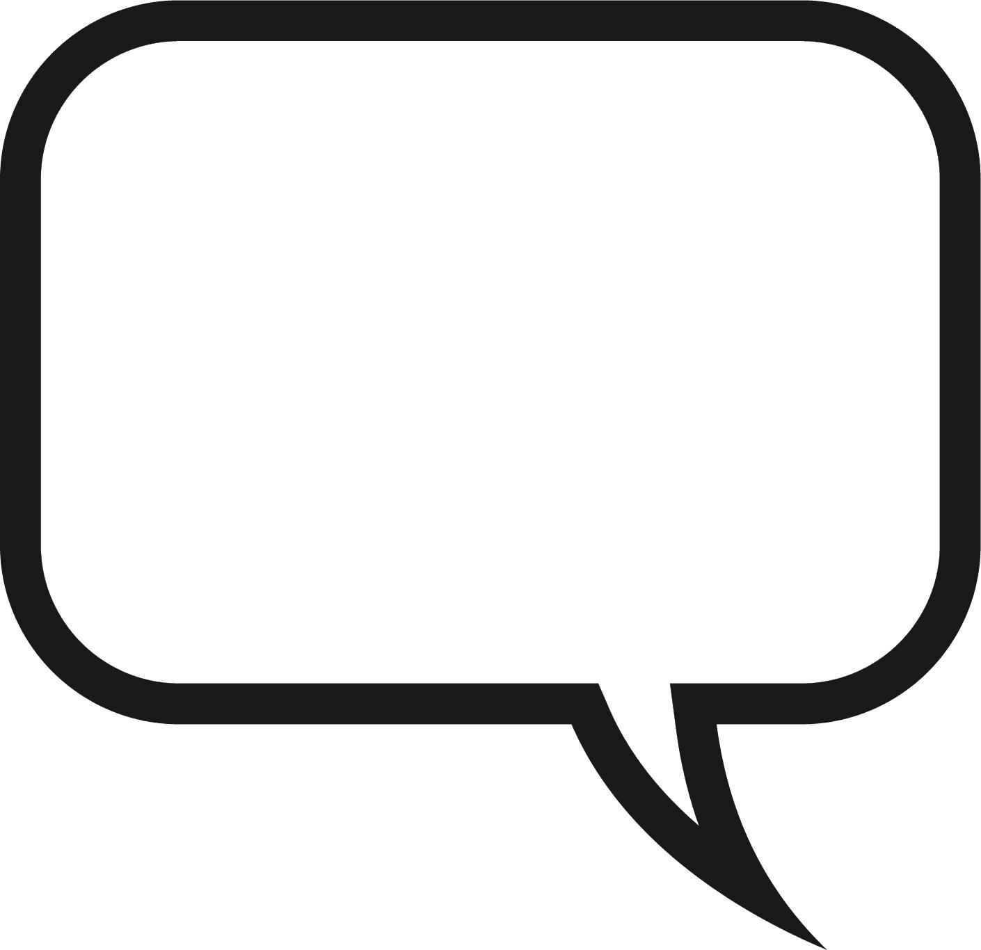 1410x1366 Speech Bubble Clipart