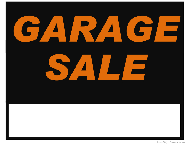 graphic about Printable Yard Signs named Printable Backyard Sale Indications Absolutely free down load suitable Printable