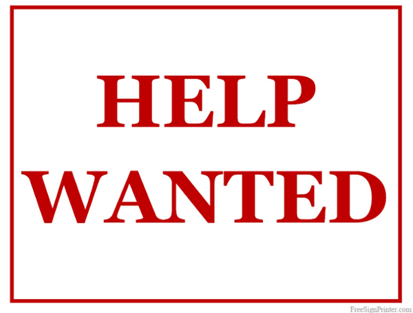 600x455 Printable Help Wanted Sign