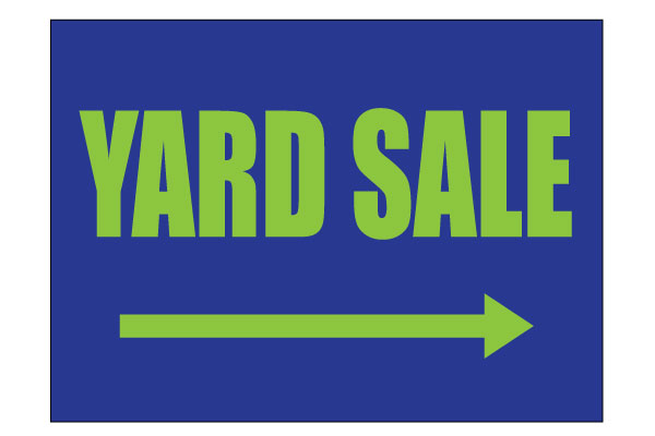 600x400 Printable Yard Sale Sign Blue Pdf Get Free Download
