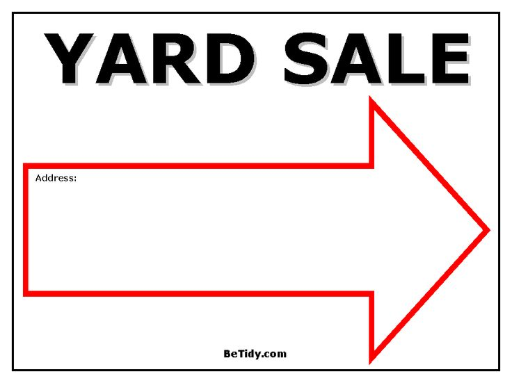 photo about Printable Yard Signs identify Printable Backyard Sale Symptoms Totally free down load suitable Printable