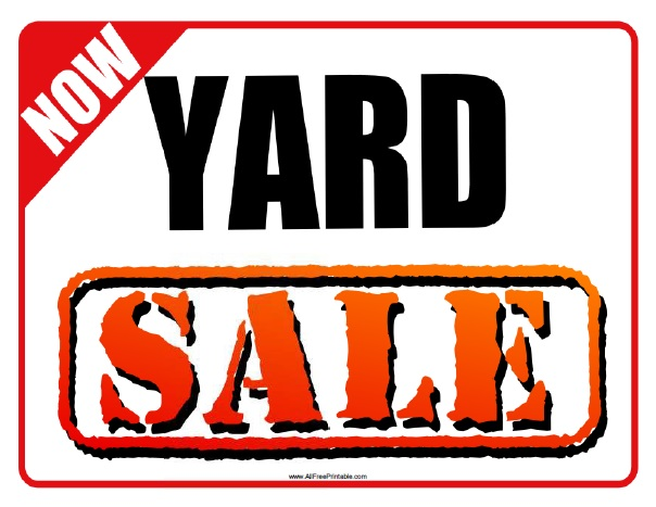 604x467 Yard Sale Sign