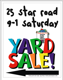 217x273 Yard Sale Sign Ideas