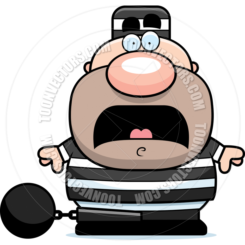 940x940 Cartoon Prisoner Man Scared by Cory Thoman Toon Vectors EPS