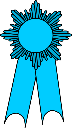 280x500 Vector Clip Art Of Medal With A Light Blue Ribbon Public Domain