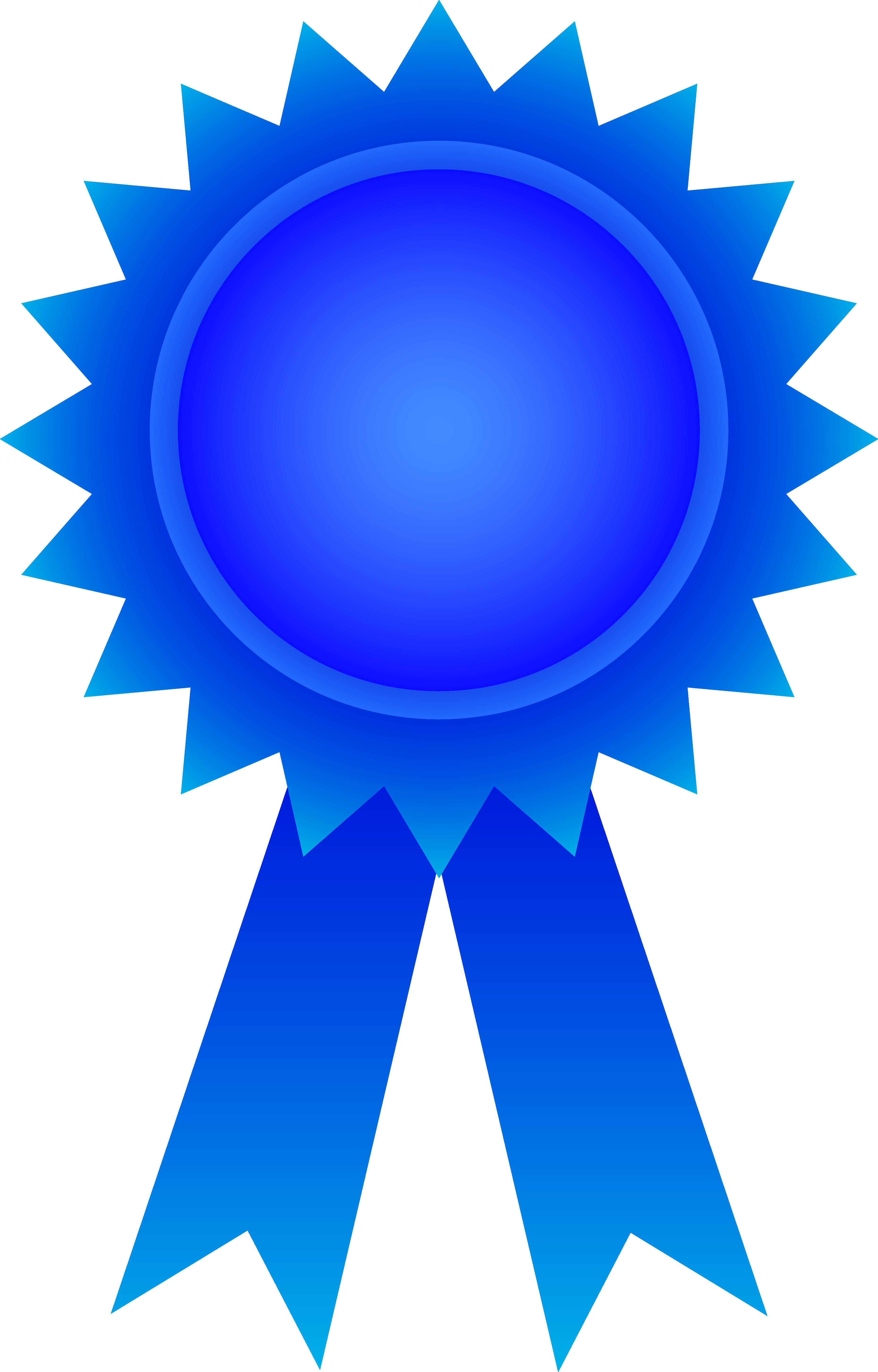 3717x5809 Blue Award Ribbon