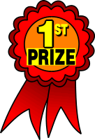 136x200 First Prize Clipart