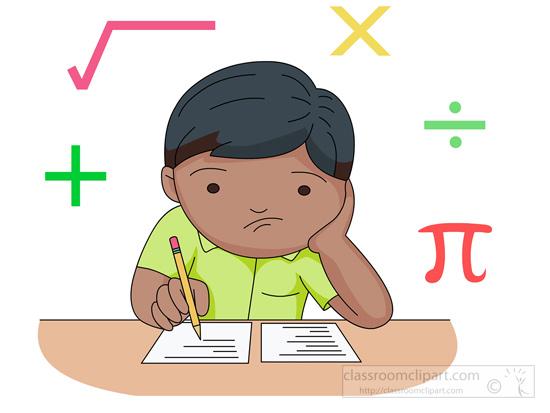 550x413 Mathematics Clipart Problem Solving