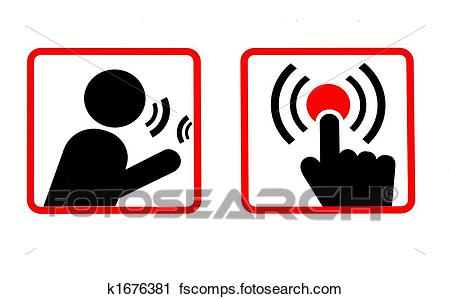 450x299 Clipart of Communications Icons k1676381