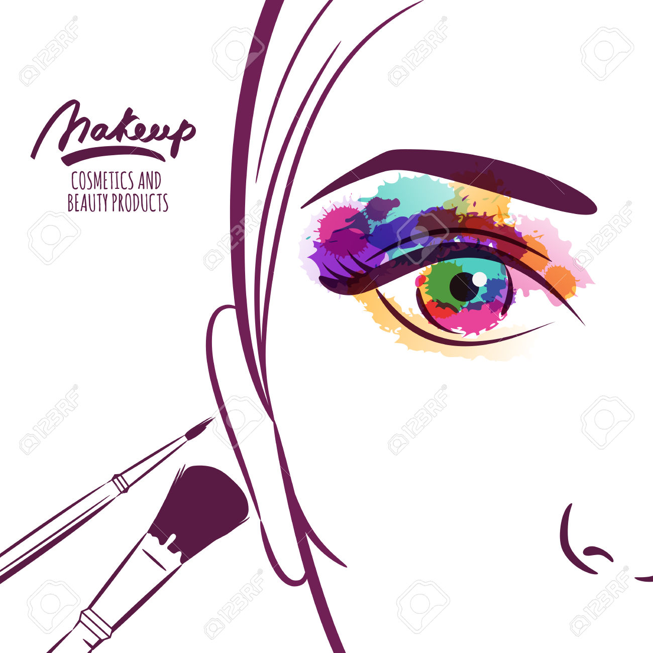 1300x1300 Makeup clipart abstract