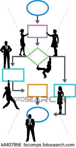 242x470 Clip Art Of Process Management Business Programmer On Flowchart