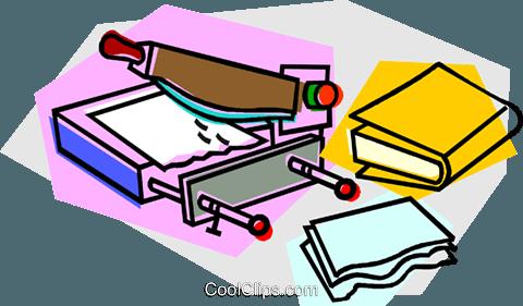 480x281 Book Binding Process Royalty Free Vector Clip Art Illustration