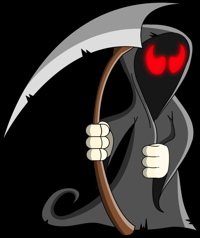 674x800 Free Cartoon Grim Reaper Clip Art