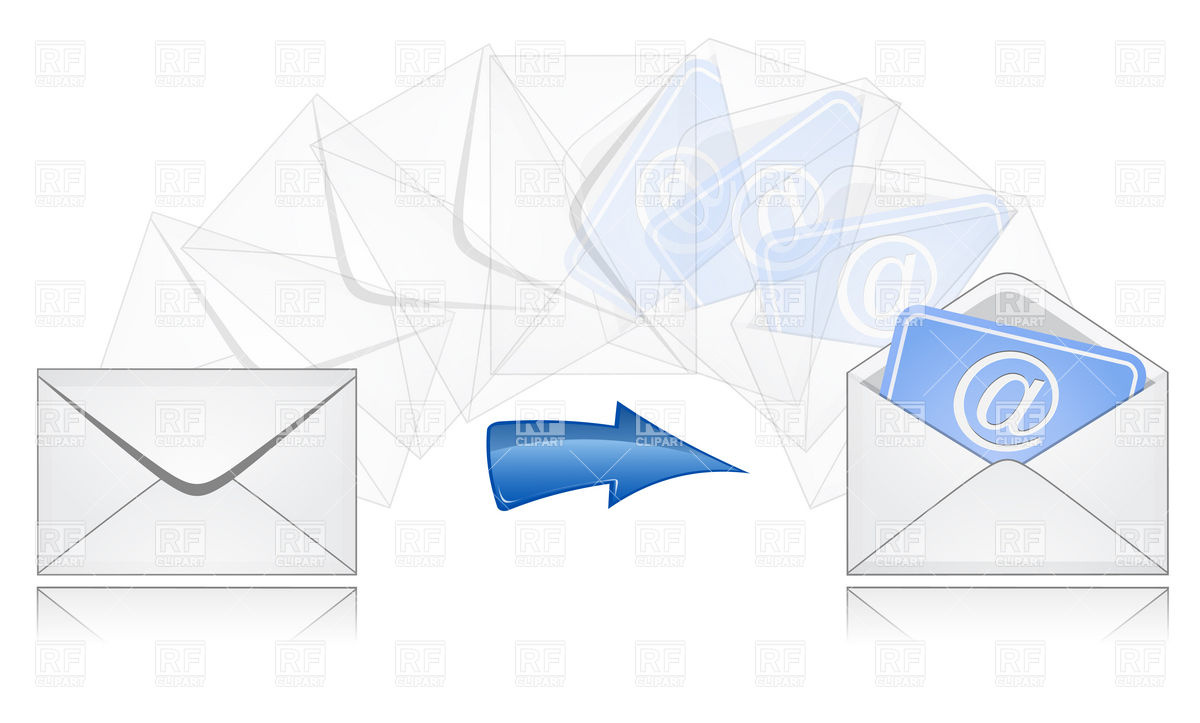 1200x723 The Process Of Email Sending Royalty Free Vector Clip Art Image